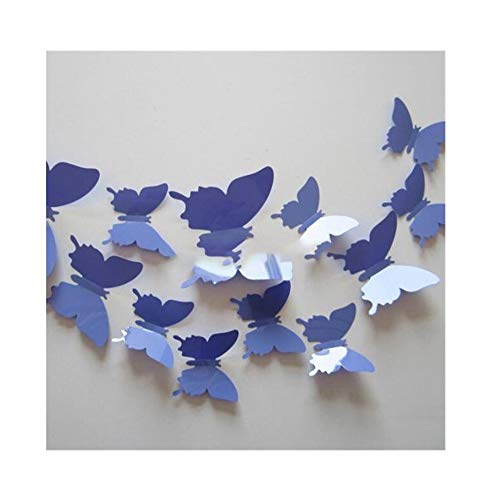 NDJqer 12Pcs PVC 3D Wall Decor Cute Wall Stickers Art Decals Home -