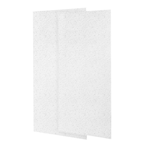 Swanstone SS-3672-2-035 Double Panel Shower Wall, Arctic Granite Finish