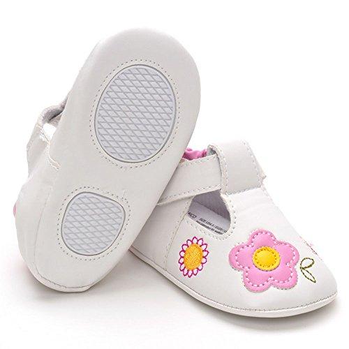 Estamico de senderismo zapatos de piel sintética para bebé zapatillas girasol, Red, 6-12 meses rojo