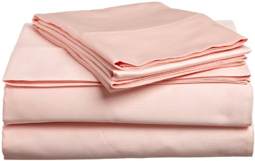 Solid Blush 300 Thread Count Twin Extra Long size Sheet Set