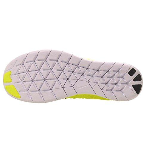 Nike Herren Free Rn Flyknit (Gs) Laufschuhe Verde (Volt / Black-White)