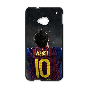 SANLSI Soccer Celebrity Lionel Messi Black Phone Case for HTC One M7