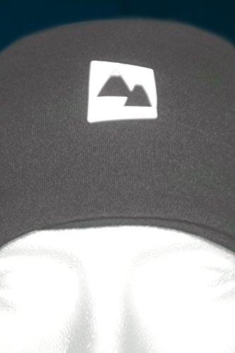 Pour Matière Absorbe Logo Pied L'eté L'humidité Randonnée Et Qui Mérinos Laine Respirant L'hiver Cyclisme Etc Réfléchissant Chaud Course Thermique vent Tissu Gris A Coupe Bandeau BqxOPZB