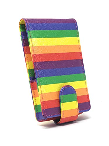 LipSense Makeup Lipstick Rainbow Stripes Case with Mirror for Purse by Glam In a Bag | Cosmetic Pouch with Mirror - Fits Lip Sense Gloss Glossy and Most Popular Brands of Liquid Long Lipstick by Glam In A Bag