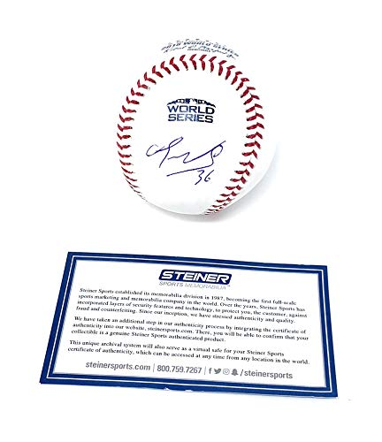 Eduardo Nunez Boston Red Sox Signed Autograph Official WORLD SERIES MLB Baseball Steiner Sports Certified