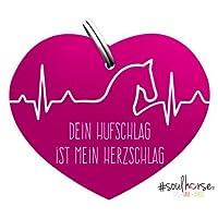 """Pferde Glücksmarke """"#Herzschlag"""" Sondermarke in pink von Soulhorse fürs Halfter, Trense und Zaumzeug"""