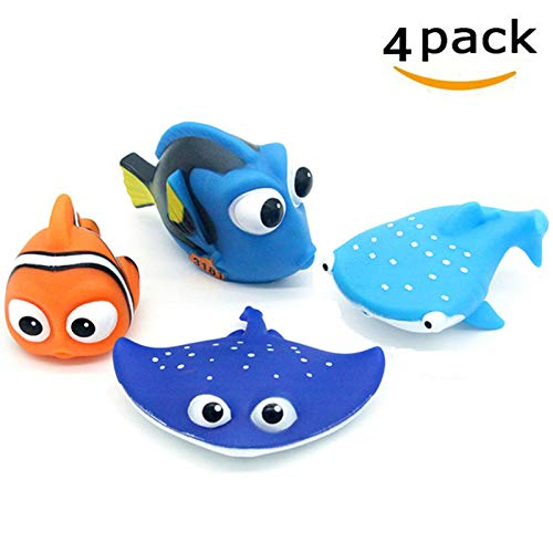 ALLCELE Baby Bath Toys,Finding Dory Nemo Squirt Toys for Baby & Toddler Toys Shower and Swimming 4pcs