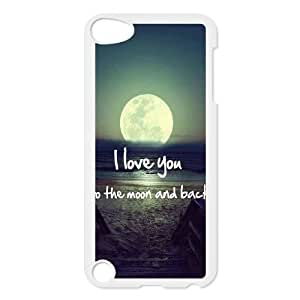 DDOUGS I love you to the moon and back Best Cell Phone Case for Ipod Touch 5, Custom I love you to the moon and back Case