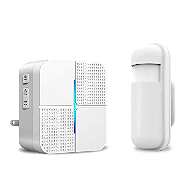 Motion Sensor Alarm Detector - JOYSAE Wireless Security Driveway Chimes Home Security Alert System Infrared Protect Home Store Safety 1-1