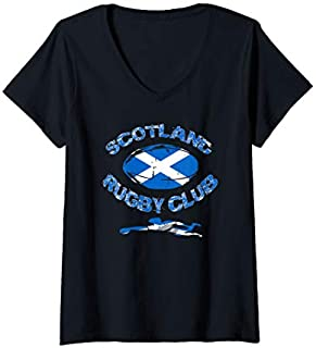 [Featured] Womens Rugby Team Scotland Country Rugby Club Rugby Tournament V-Neck in ALL styles | Size S - 5XL
