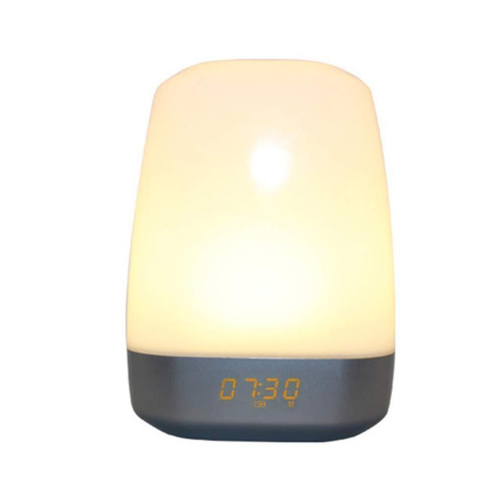 TD Wake Up Light, Creative Touch Wake-up Light Alarm Clock Multifunction Atmosphere Night Light Sleeping Lamp Q0013