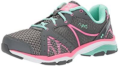 Ryka Women's Vida RZX Cross Trainer, Iron Grey/Hyper Pink/Yucca Mint, 5 M US
