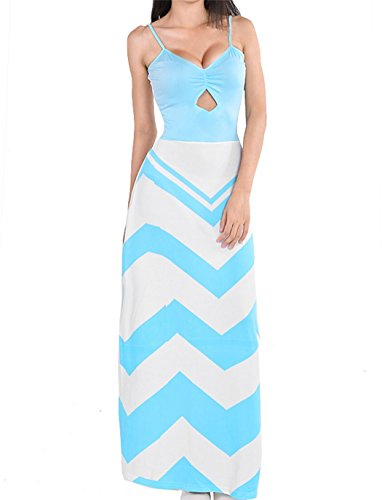 Zeagoo Women's Island Printed Sleeveless Maxi Summer Sun Dresses