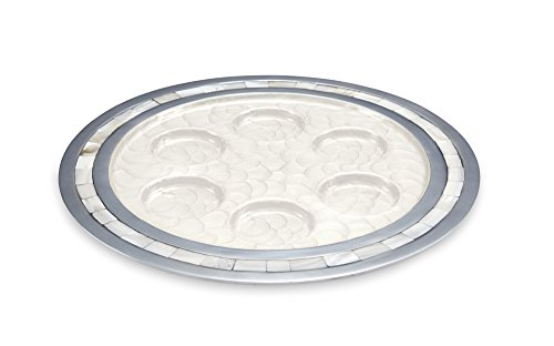 Julia Knight Classic Seder Plate , 12-Inch, Snow, White, by Julia Knight