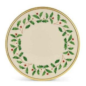 Lenox Holiday Gold Banded Ivory China Salad Plate