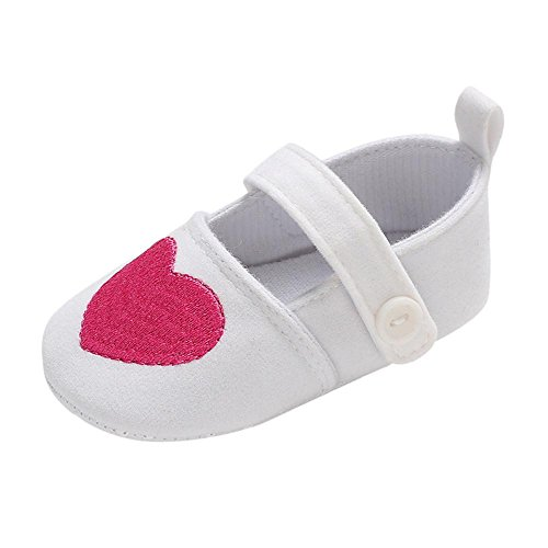 Sneaker Sole Charm - Minisoya Newborn Infant Baby Girls Crib Shoes Heart Hollowed Soft Sole Anti-Slip Sneakers Casual Bowknot Princess Shoes (White1, Age:12~18 Month)