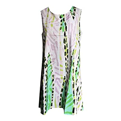 Sinfu Women Summer Sleeveless Tank Dress Loose Mini T-Shirt Dress Beach Sundress: Clothing