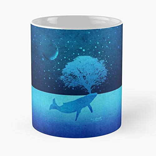 (Whale Whimsical Spouting - Coffee Mug Tea Cup Gift 11oz Mugs The Best Gift Holidays.)