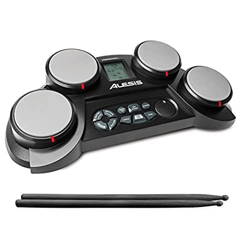 Alesis CompactKit 4 | Portable 4-Pad Tabletop Electronic Drum Kit