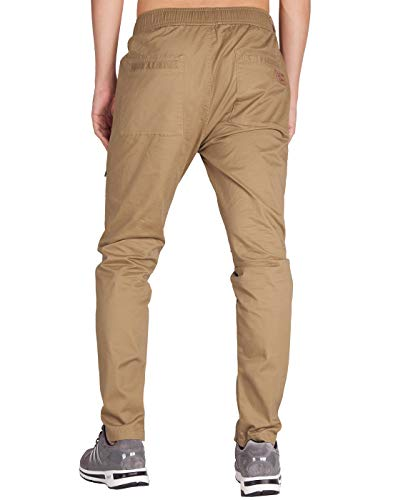 Homme Cargo Pantalon Fit Casual Chino Kaki Slim Italy Morn Foncé twO6ax