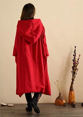 Fashion Décontracté Manches Blouson Elégante Outerwear Automne Femme Jacket A Capuche Costume Bouffant Unicolore Coat Rouge Longues Vintage Gaine Printemps 6PSqnR8ww