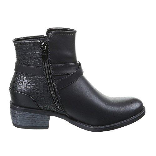 Talla Color Botas Negro Design Material de Sintético Mujer 41 Para Ital P7xTzqqw