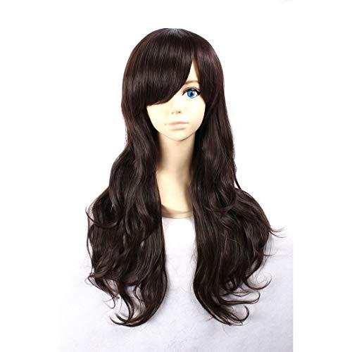 HOOLAZA Black Long Curly Wig Tohsaka Rin Fate Stay night Cana Alberona Inukashi Kyouraku Shunsui Axis Power Hetalia Taiwan for the Halloween Party Cosplay Wigs -