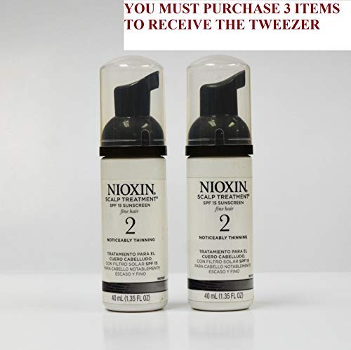 System 2 Scalp Treatment 1.35oz SPF 15 Sunscreen-2 Pack (net 2.7oz) +FREE PROFESSIONAL TWEEZER