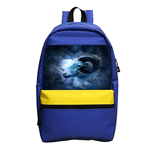 Lovely Portrait of Sheep's Head Schoolbag Boys and Girls 1-6 Year Old Children Backpack ()