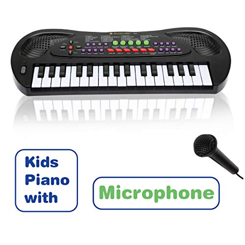 MUSICUBE Toddler Piano, 32 Keys Multifunction Kids Piano Mini Keyboard for Kids with Microphone