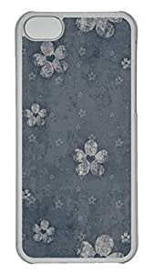 Customized iphone 5C PC Transparent Case - Flower Background Cover