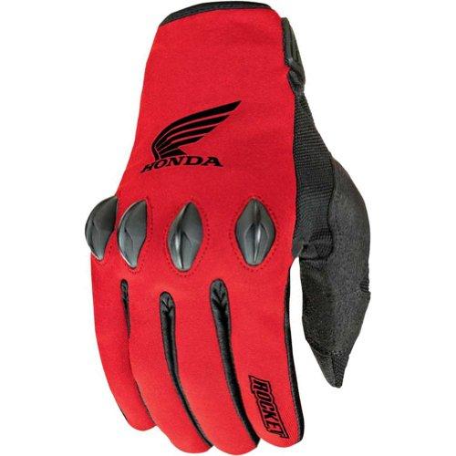 Joe Rocket Honda Nation Men's Textile Sports Bike Motorcycle Gloves - Red/Black/X-Large