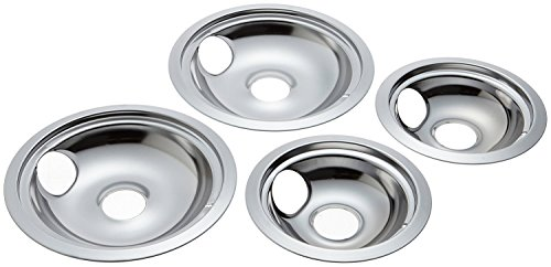 4 Pack Replacement for GE/Hotpoint Electric Range Chrome Reflector Bowls With Locking Slot