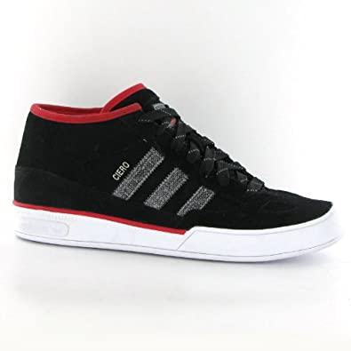 huge selection of a0528 bcbe3 Adidas Ciero Mid Black Red Leather Mens Trainers Amazon.co.uk Shoes  Bags