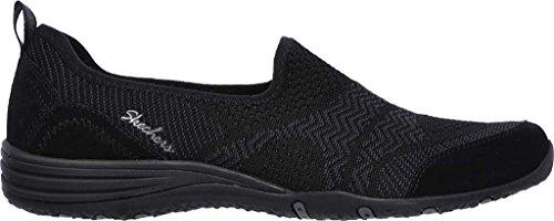 Skechers Eenheid Moonshadow Dames Slip Op Sneakers Zwart