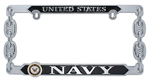 Elektroplate United States Navy 3D License Plate Frame