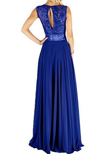 Missdressy Elegant Satin Lang Chiffon Tuell Spitze Aermellos Band Abendkleid Partykleid Ballkleid Festkleid