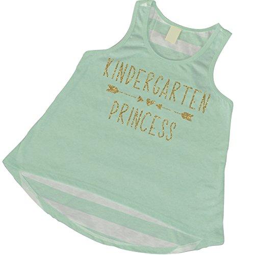 1st Day of Kindergarten Shirt, Girls Kindergarten Clothes, Back to School Shirts for Girls, Kindergarten Princess (6T)