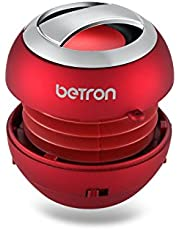 Betron BPS60 Wireless Bluetooth Speakers, Rechargeable Compact Portable Mini Travel Speaker for Bluetooth enabled iPhone iPad Tablets iPod Mp3, Samsung HTC Nokia Blackberry - Pink