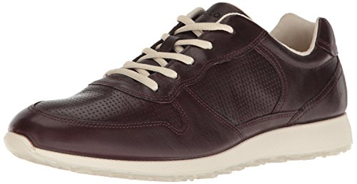 ECCO Women's Women's Sneak Retro Tie Fashion Sneaker, Bordeaux, 38 EU / 7-7.5 US