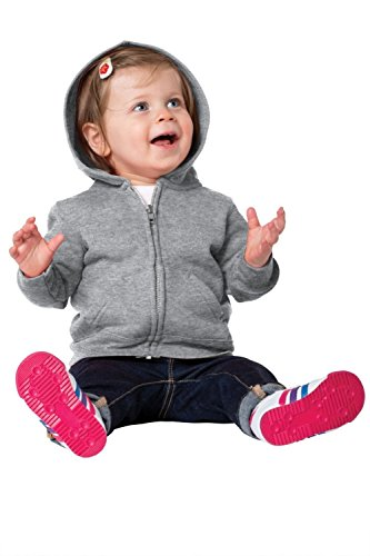 Precious Cargo unisex-baby Full Zip Hooded Sweatshirt 06M Athletic Heather