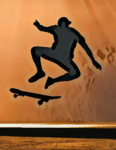 Skateboard Sketchbook Journal Notebook Combo: A sketchbook, daily diary, composition book combo, gift idea for someone who loves skateboarding!! (Skate Boarding Helmets)