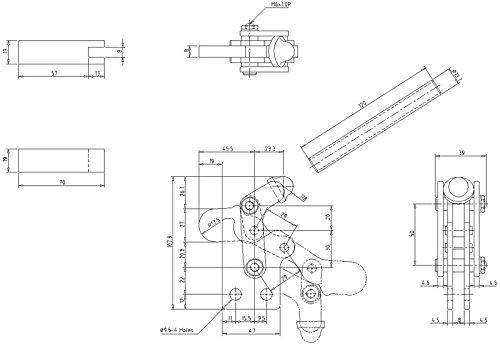 KAKUTA VARI NO.1-SB Heavy Duty Vertical Clamp Holding Capacity 441 lbs