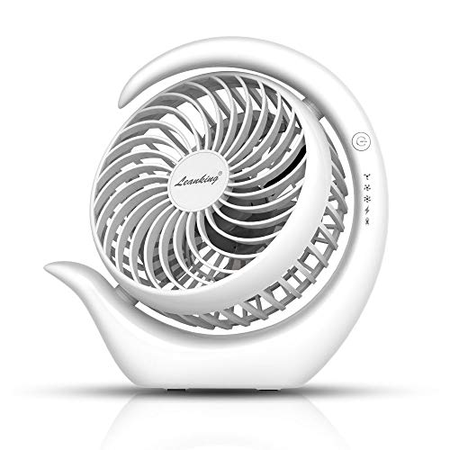 Battery Fan, Leanking Rechargeable Fan Portable Handheld Personal Mini USB Fan with 3600mAh Battery 4-13 Hours,USB Desk Fan with 3 speeds, Strong Wind, Quiet Operation Cooling for Home, Office Travel (9 Personal Fan)