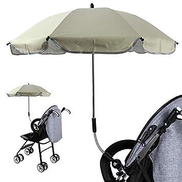 IVYSHION Sombrilla Carrito de Bebé Universal Paraguas Sombrilla Parasol para Cochecito Bicicleta Universal con UV Protección 360 Grados De Dirección ...
