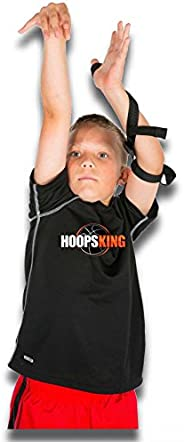 HoopsKing Off or Guide Hand Shooting Aid Perfect Jump Shot Strap - Develop A True One Handed Release On Your S