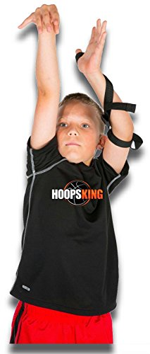 (HoopsKing Off or Guide Hand Shooting Aid Perfect Jump Shot Strap - Develop A True One Handed Release On Your Shot - Stops Rotation of The Wrist to Prevent Off Hand Interference)