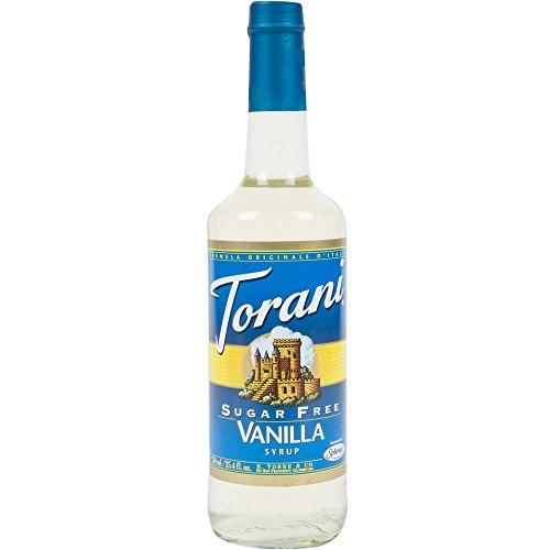 Torani Sugar-Free Syrup, Vanilla, 25.4-Ounce PET Bottles (Pack of 3)