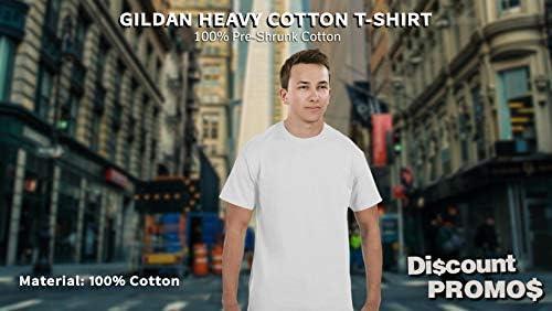 Gildan Heavy Cotton T-Shirt – 10-Pack – Plain Men's Heavy Weight Shirt