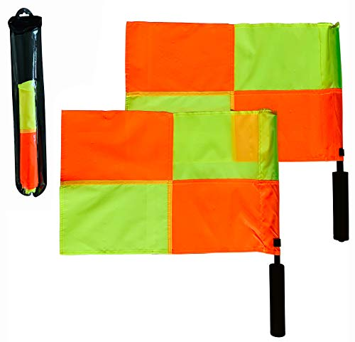 (Coast Athletic Soccer Referee Flags (Checkered Pattern) | Ultra High Visibility)